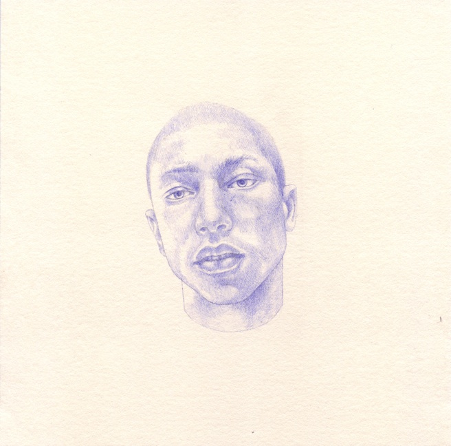 Shauna Born, All The Boys I'd Like To Fuck (detail) 19, 2012, ball point pen on paper, 8 x 8 inches.