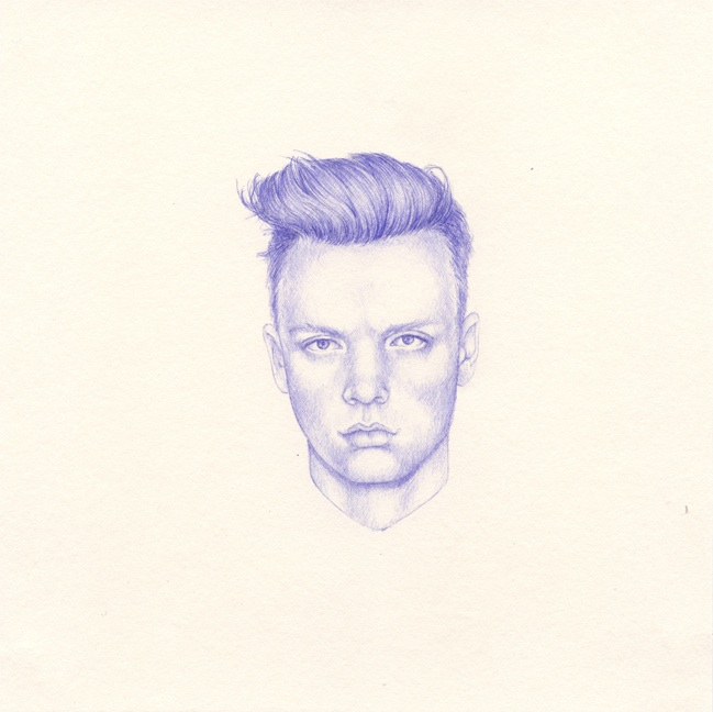 Shauna Born, All The Boys I'd Like To Fuck (detail) 29, 2012, ball point pen on paper, 8 x 8 inches.