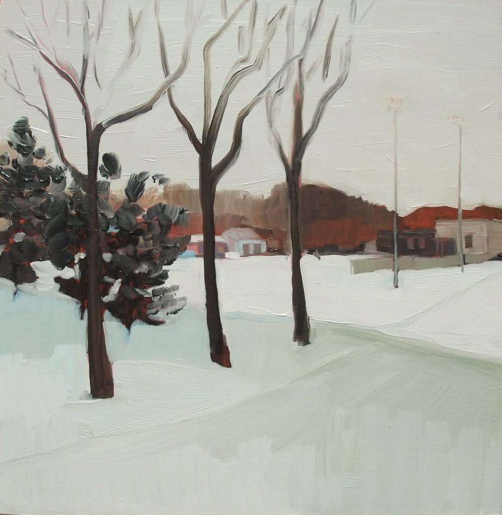 Roberta McNaughton, Winter-Trinity Diamond, oil on wood panel,12 x 12 inches.