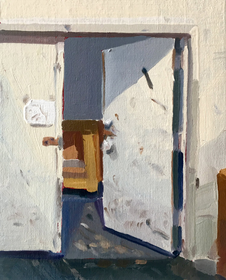 Front Door, 2017, oil on linen, 10 x 8 inches.  SOLD