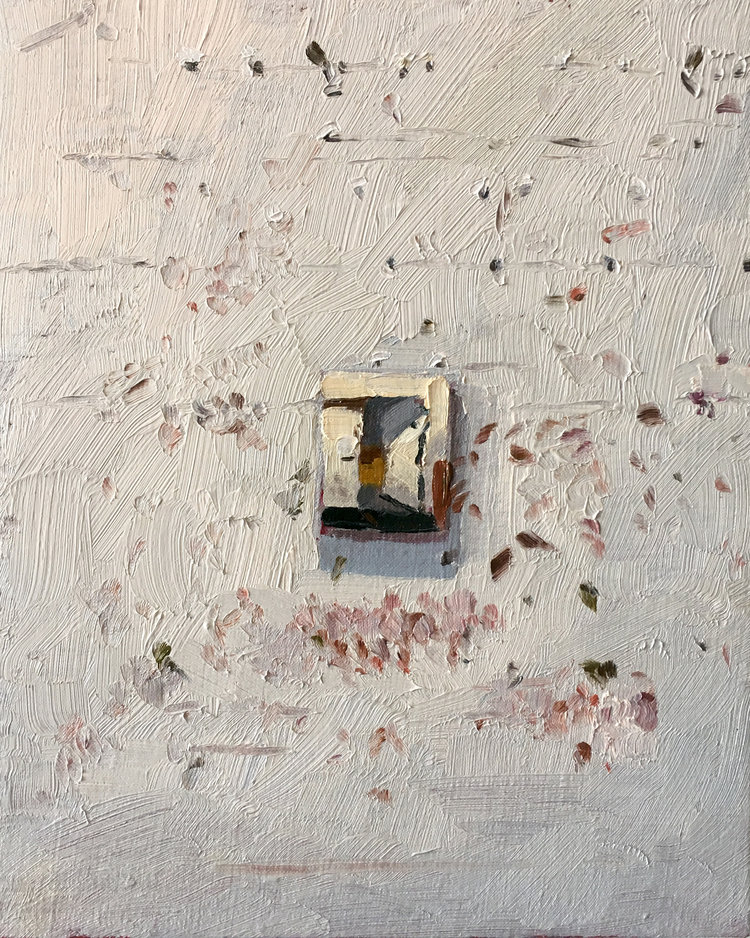 Studio Wall (Front Door), 2017, oil on canvas over panel, 10 x 8 inches. SOLD