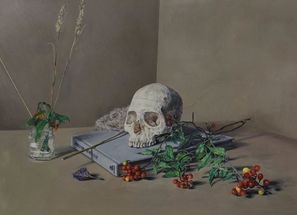 Memento Mori (for my father), 2016, oil on panel, 28 x 38 inches  SOLD