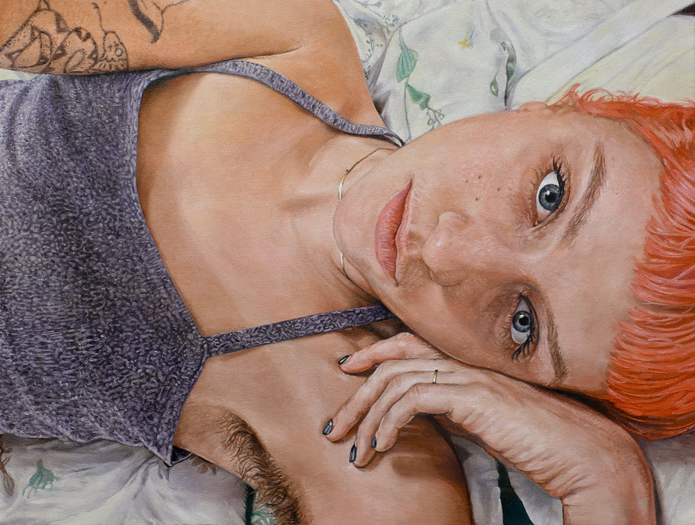 Inez, 2017, oil on canvas, 21 x 28 inches  NFS