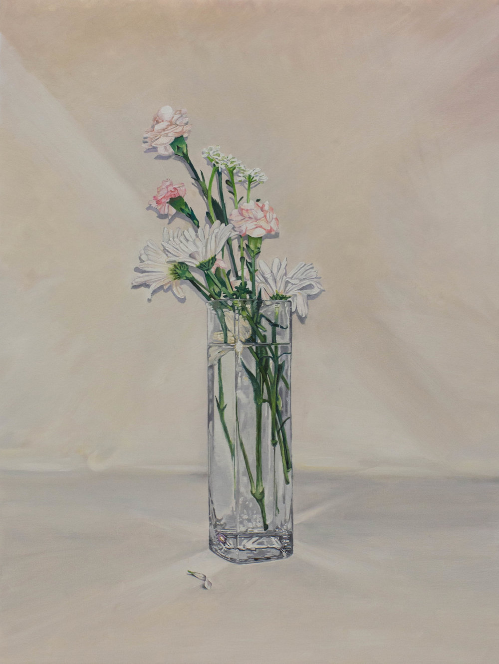 Flowers (for my mother), 2016, oil on canvas, 48 x 36 inches