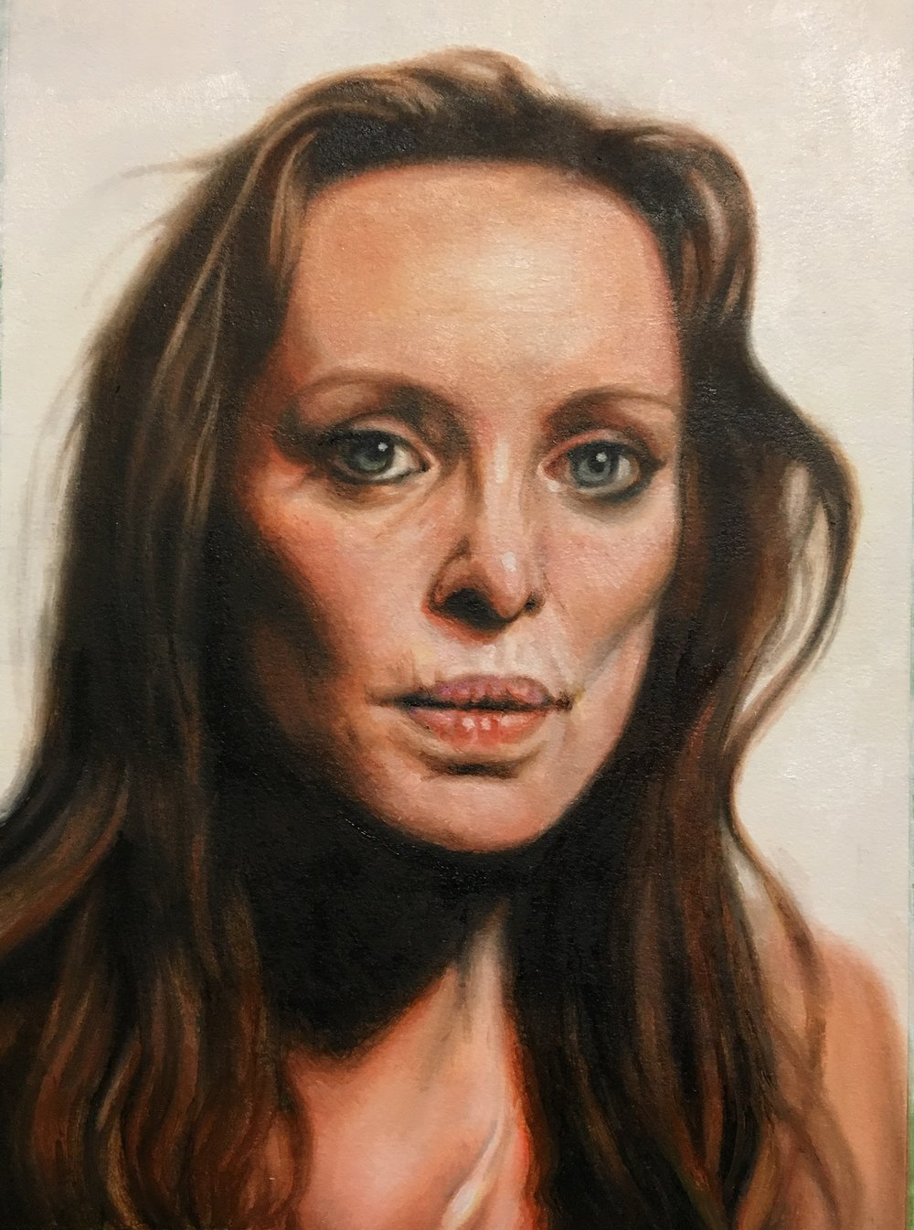 Heather, 2017,oil on paper, 11 x 8 inches