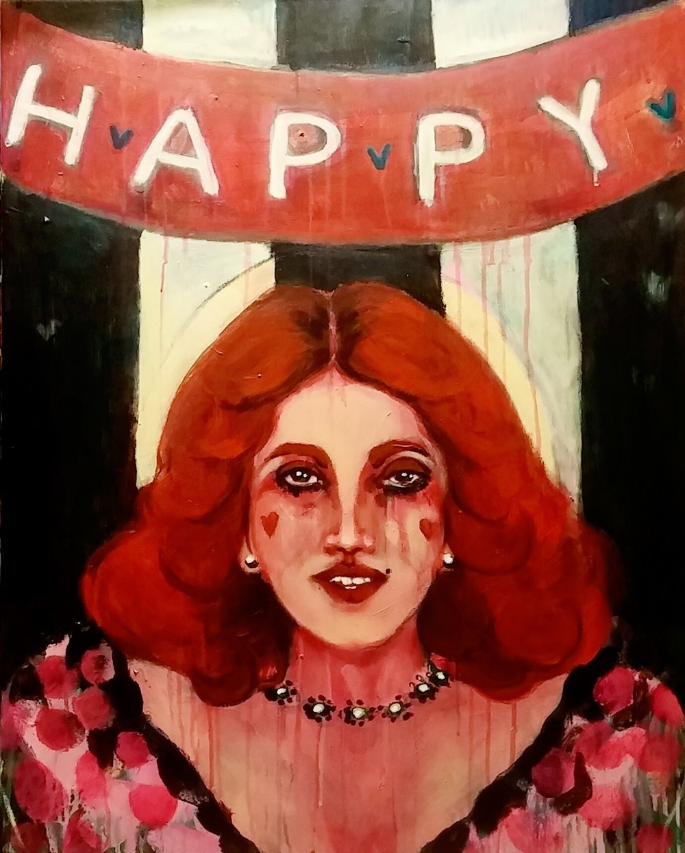Birthday Girl, 2016, acrylic on canvas, 30 x 24 inches  SOLD