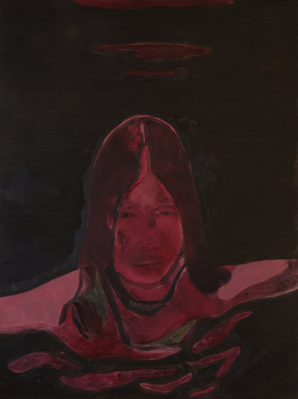 Anthony Cudahy, Red Moon 2, 2015, oil on canvas, 48 x 36 in.
