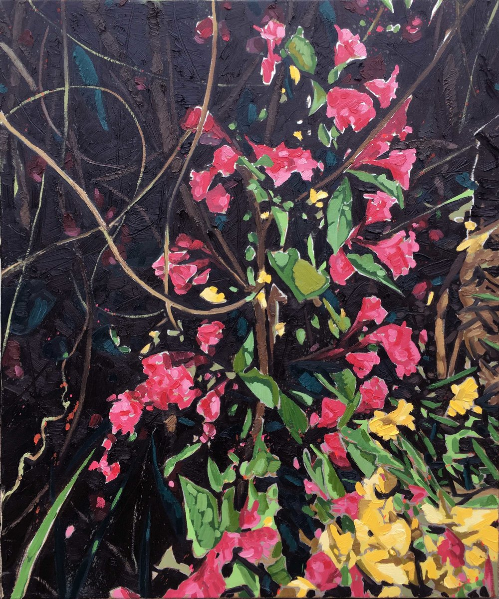 Stacey's Garden, 2016, oil on canvas, 36 x 30 in.