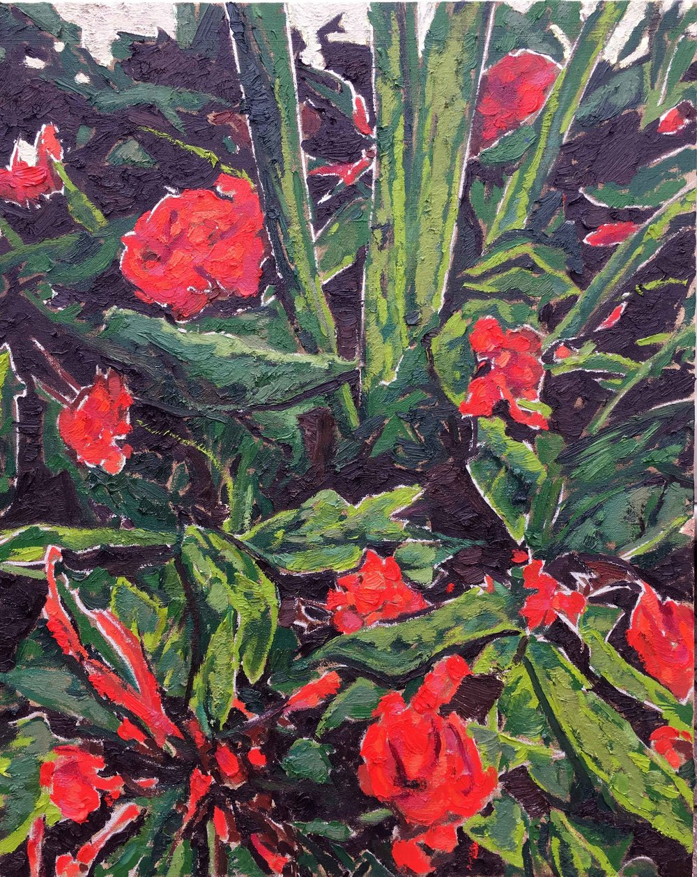 Wilted Petals, 2017, oil on canvas, 30 x 24 in.