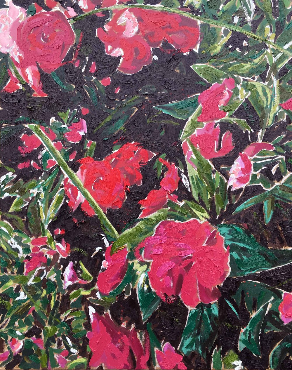 Summer Bloom, 2017, oil on canvas. 30 x 24 in.