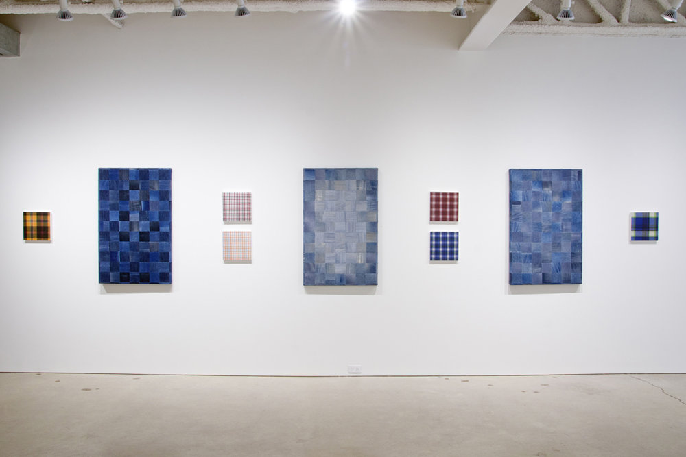 Installation view, Jeans and Shirts