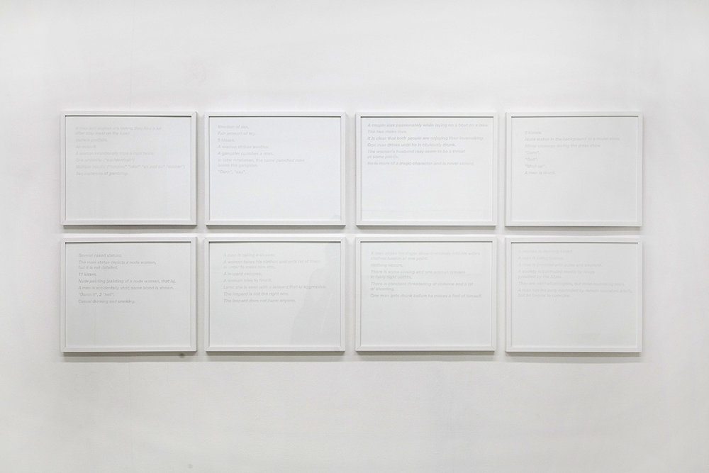 "Synopses  series, 2014-2015, 16""x20"" graphite on paper."