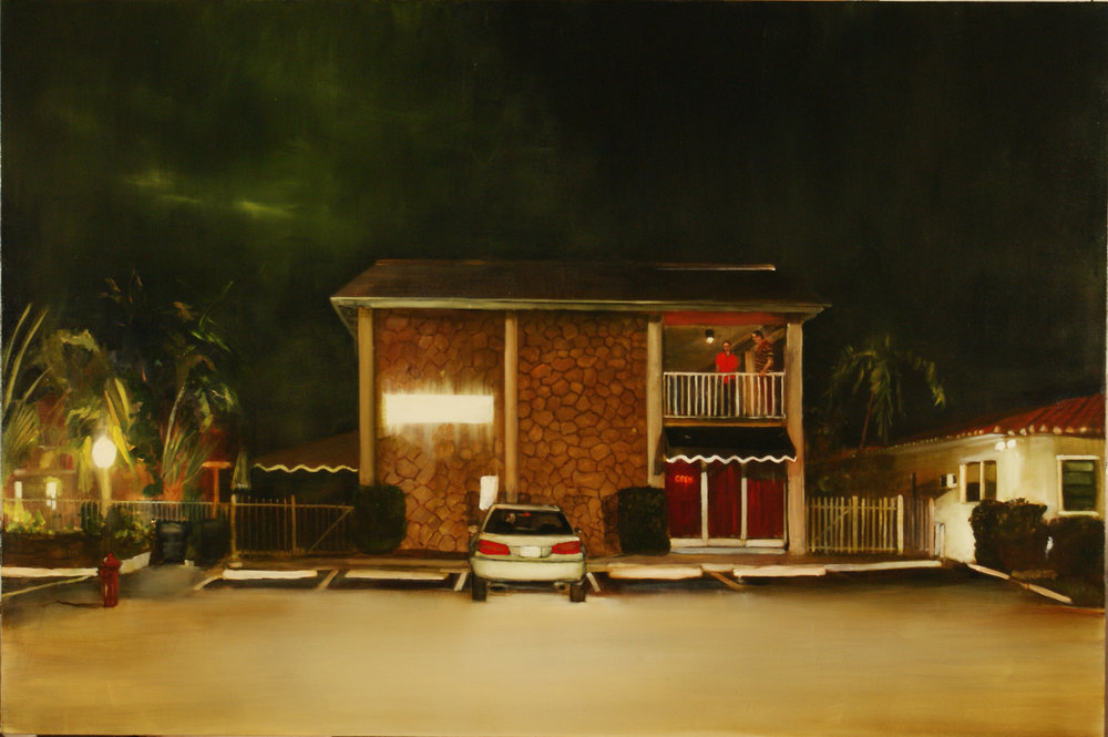 "Noir, 2012, 48"" x 72"", Oil on Canvas on Panel"