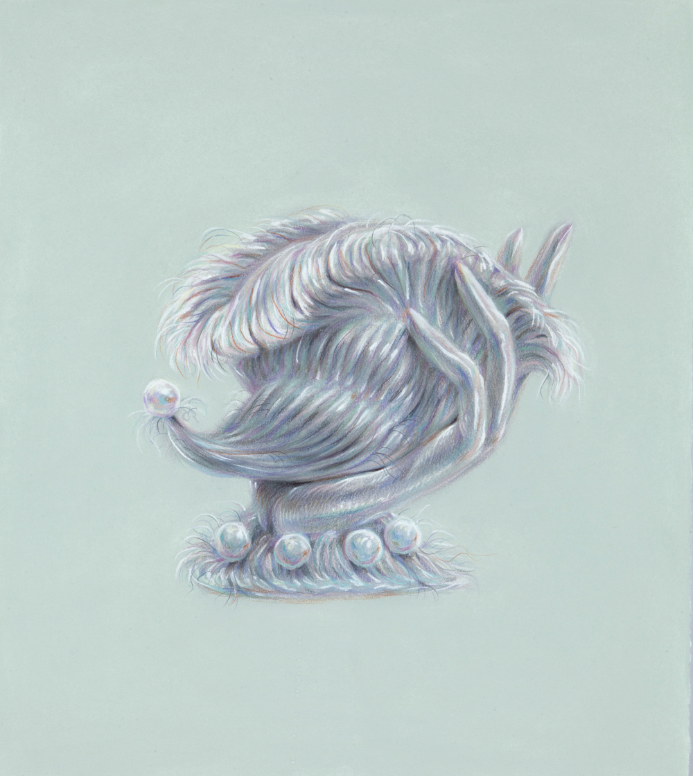 Horn of Plenty, 2017, colored pencil on paper, 18 x 16 inches