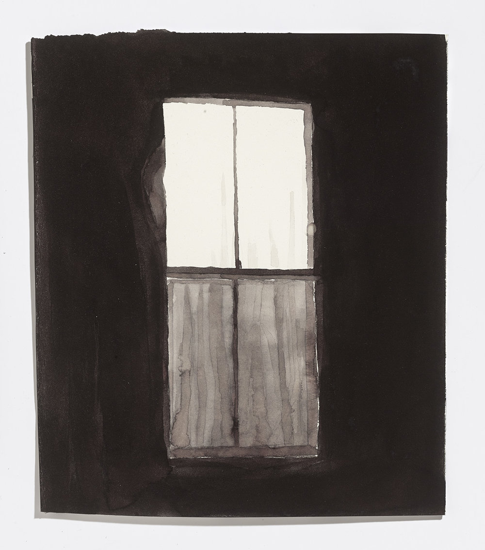 Closed window, 2017, ink on paper, 13.25 x 11.25 in