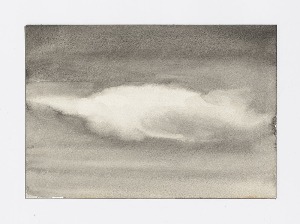 Rusty Cloud 2, 2017, gouache on paper, 7 1/8th x 10.25 in