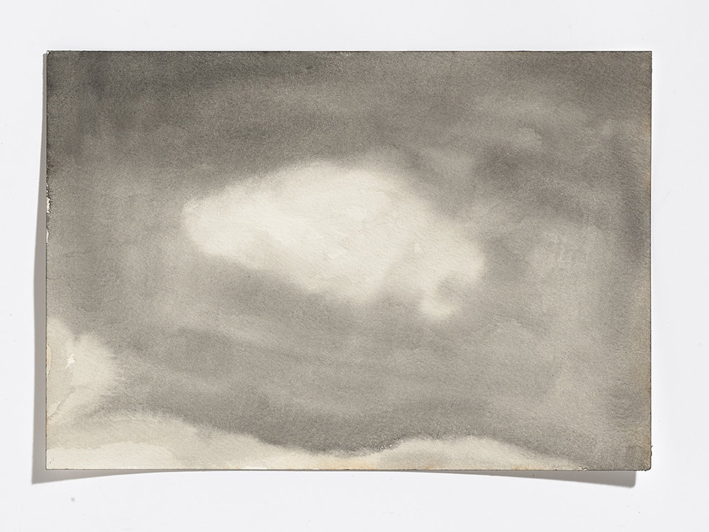 Rusty cloud, 2017, gouache on paper, 7 1/8th x 10.25 in