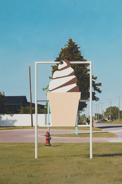 Ice Cream, 2017, oil on panel, 6 x 4 inches