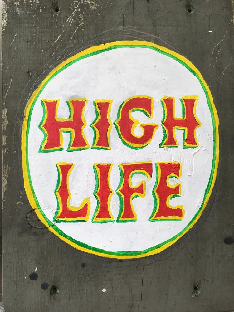 High Life, 2017, acrylic on wood, 12 x 9 in