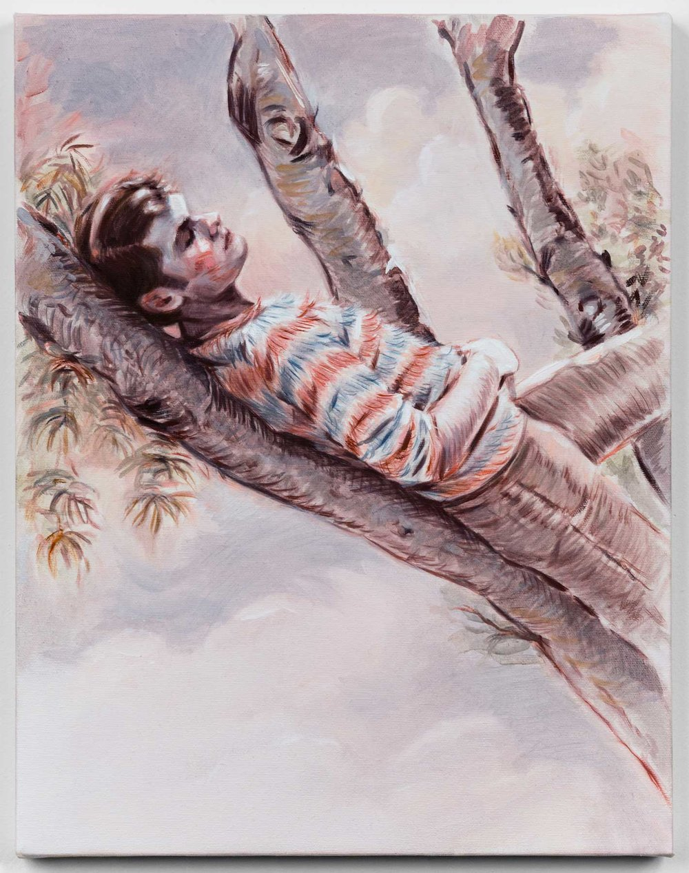 Caterpillar,2016, oil on canvas,18 x 14 in
