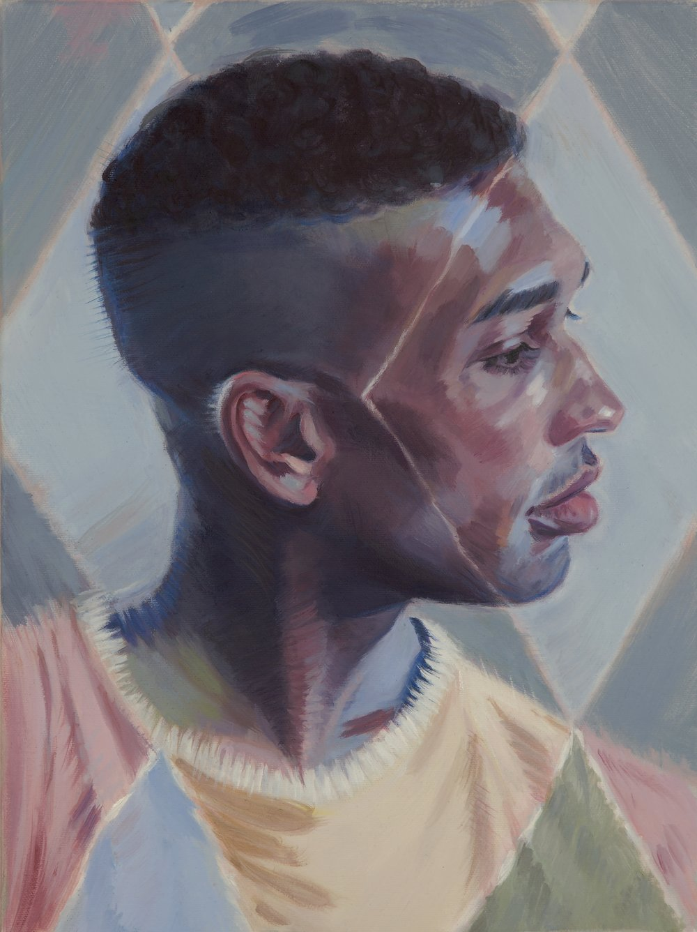 Kris Knight,  The Onlooker , 2017, oil on canvas, 16 x12 inches