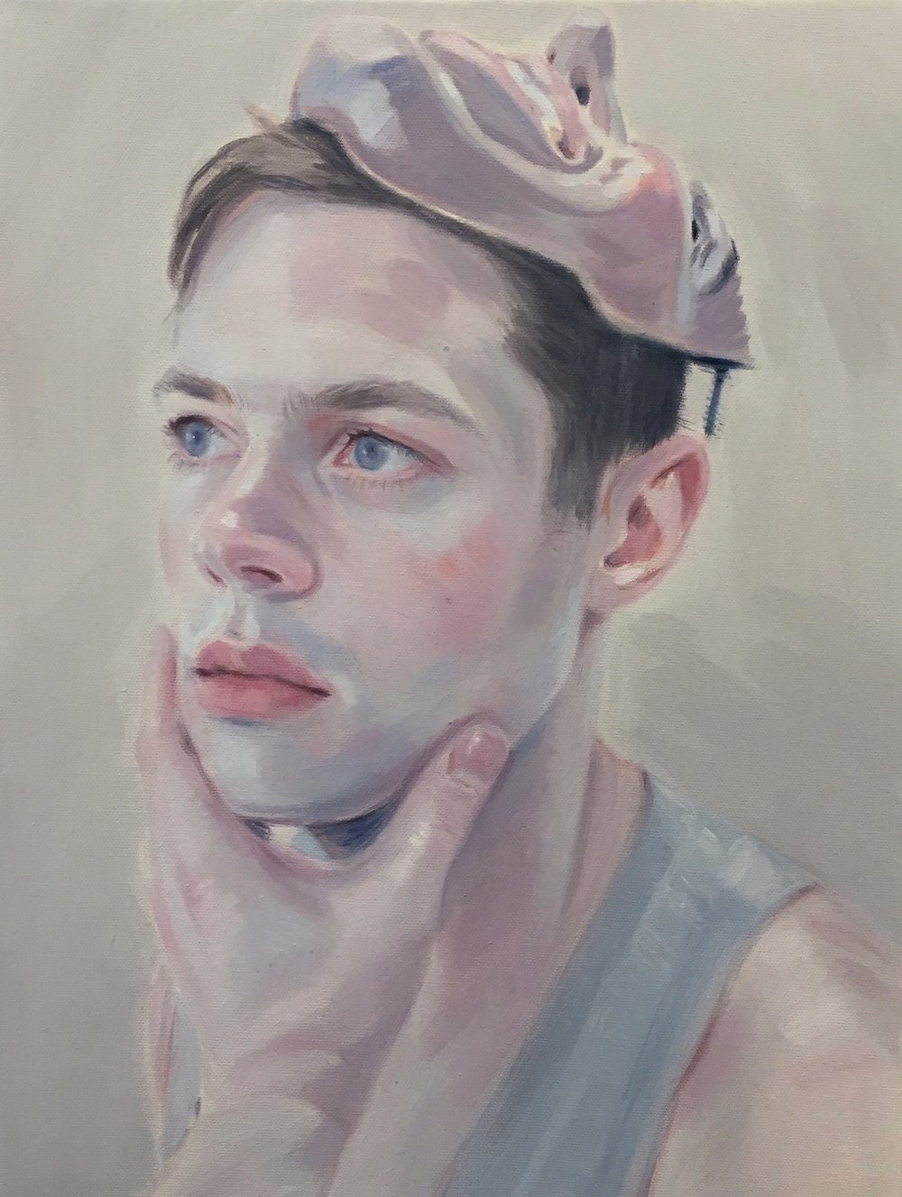 Kris Knight,  The Unsuccessful Joke , 2017, oil on canvas, 16 x12 inches SOLD