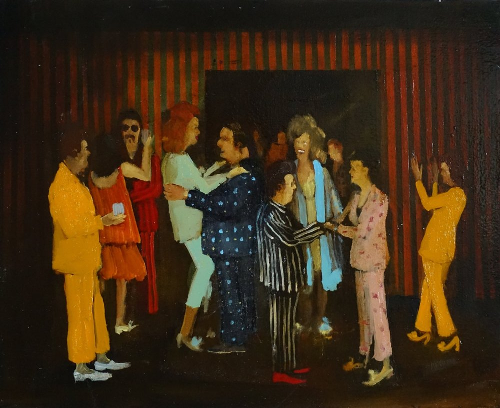 Michael Harrington, Pyjama Party, oil on canvas,16 x 20 inches SOLD