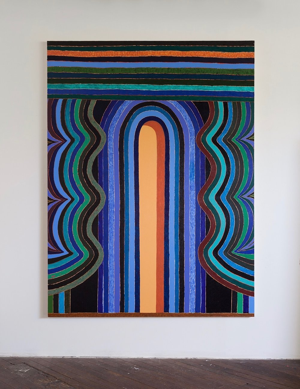 Matt Kleberg, Hypnobaby, 2017, oil stick on canvas, 96 x 72 inches