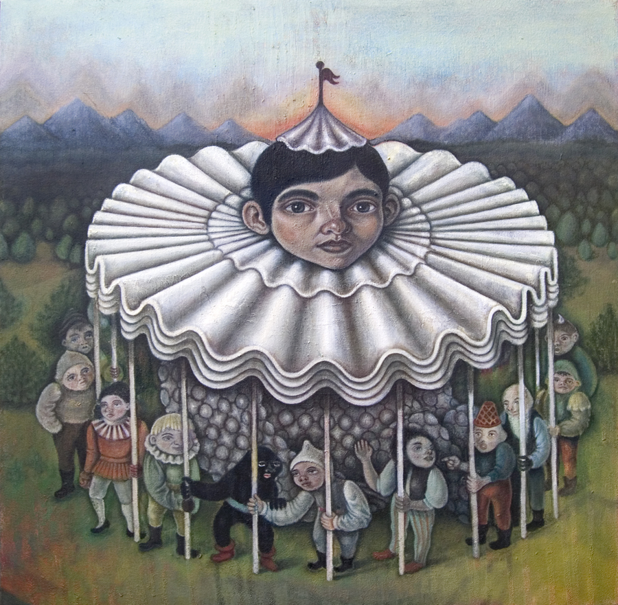 Carousel , 2011, oil on canvas, 28 x 28 inches  SOLD