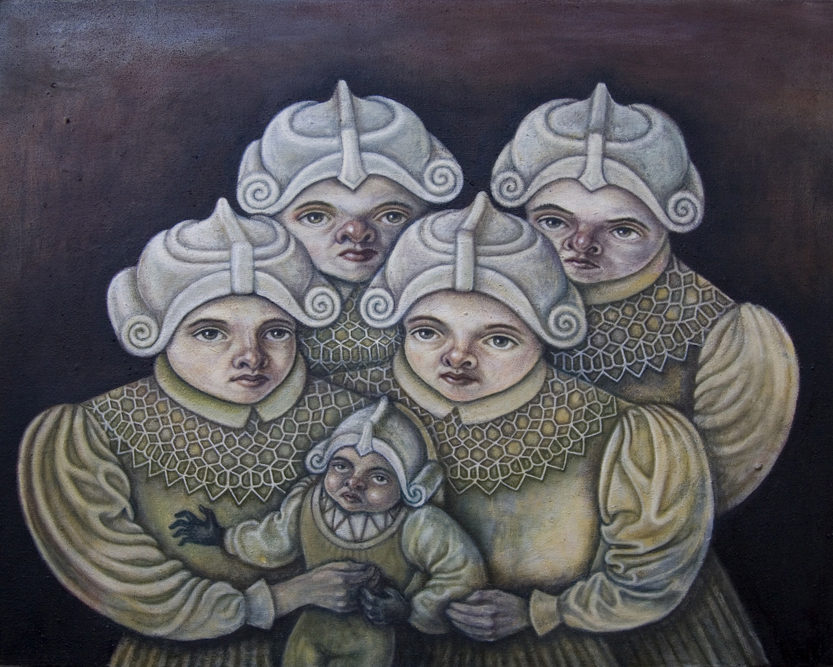 Group Portrait , 2011, oil on canvas, 15 x 20 inches
