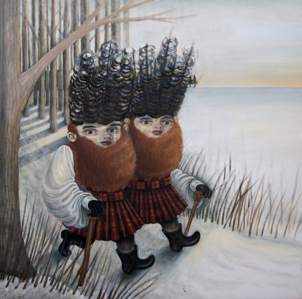 Ginger Beards, 2011, oil on canvas