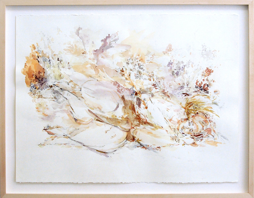 Sarah Creagen, Lying, 22 x 30 inches, watercolour and graphite on paper, 2015.jpeg