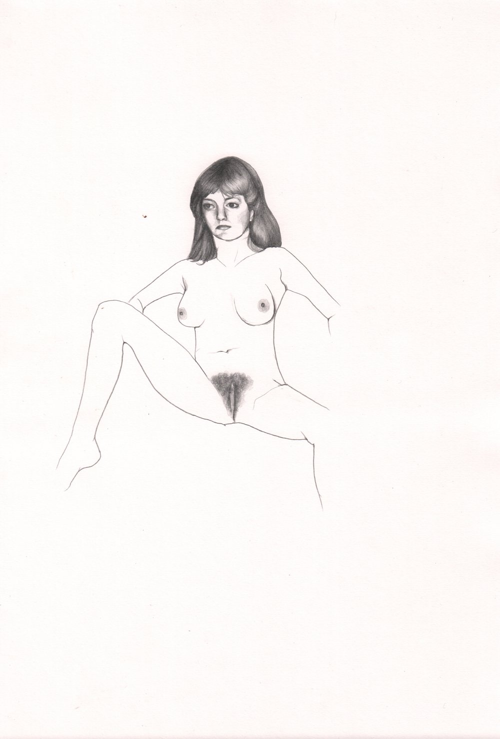ERICA EYRES, Jane, 2015, pencil on paper. 11.5 x 18.5 inches