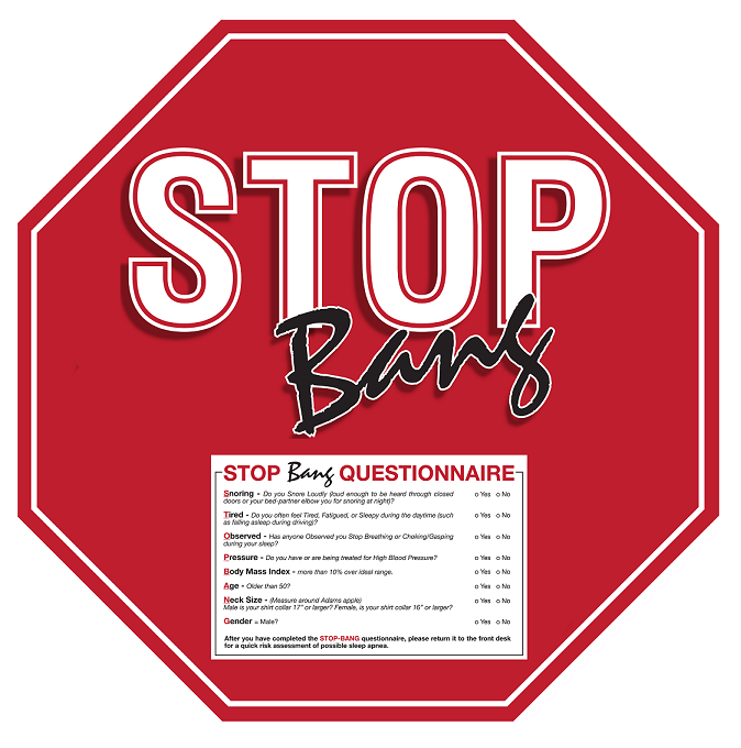 Stop Bang Questionnaire Dental Sleep Store
