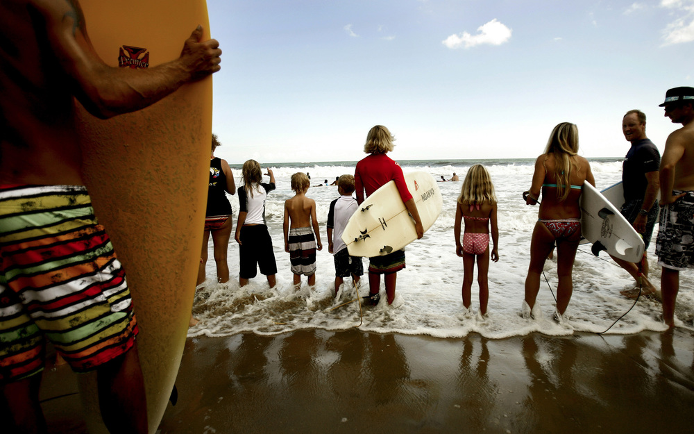 2009, Super Grom event during the 47th Annual East Coast Surfing Championships.