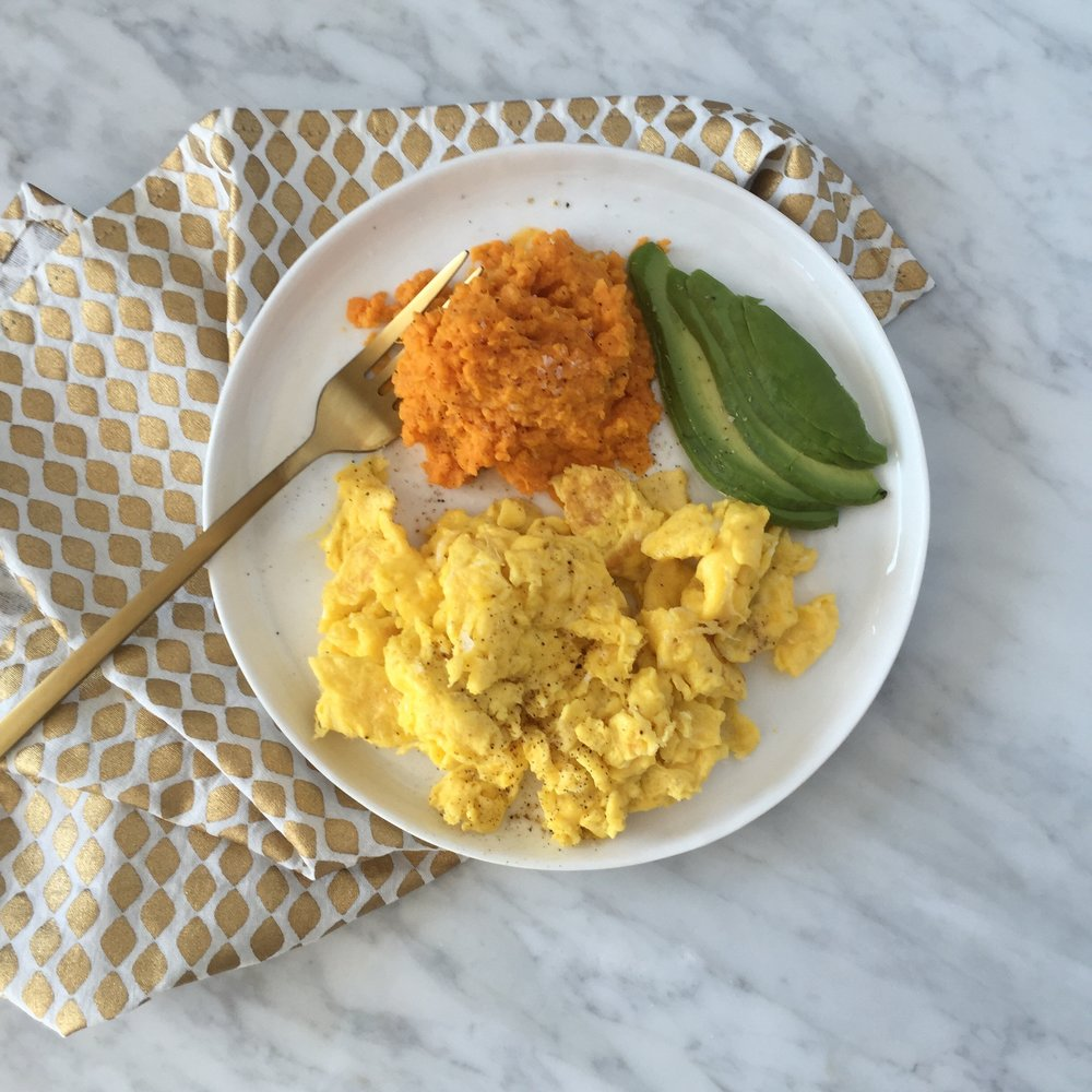 Scrambled Eggs with Smashed Sweet Potato.jpg