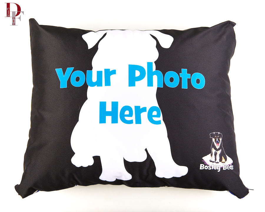 We print your favorite photos on a durable pet bed or comfy sofa pillow.  You choose your favorite size and photo(s).