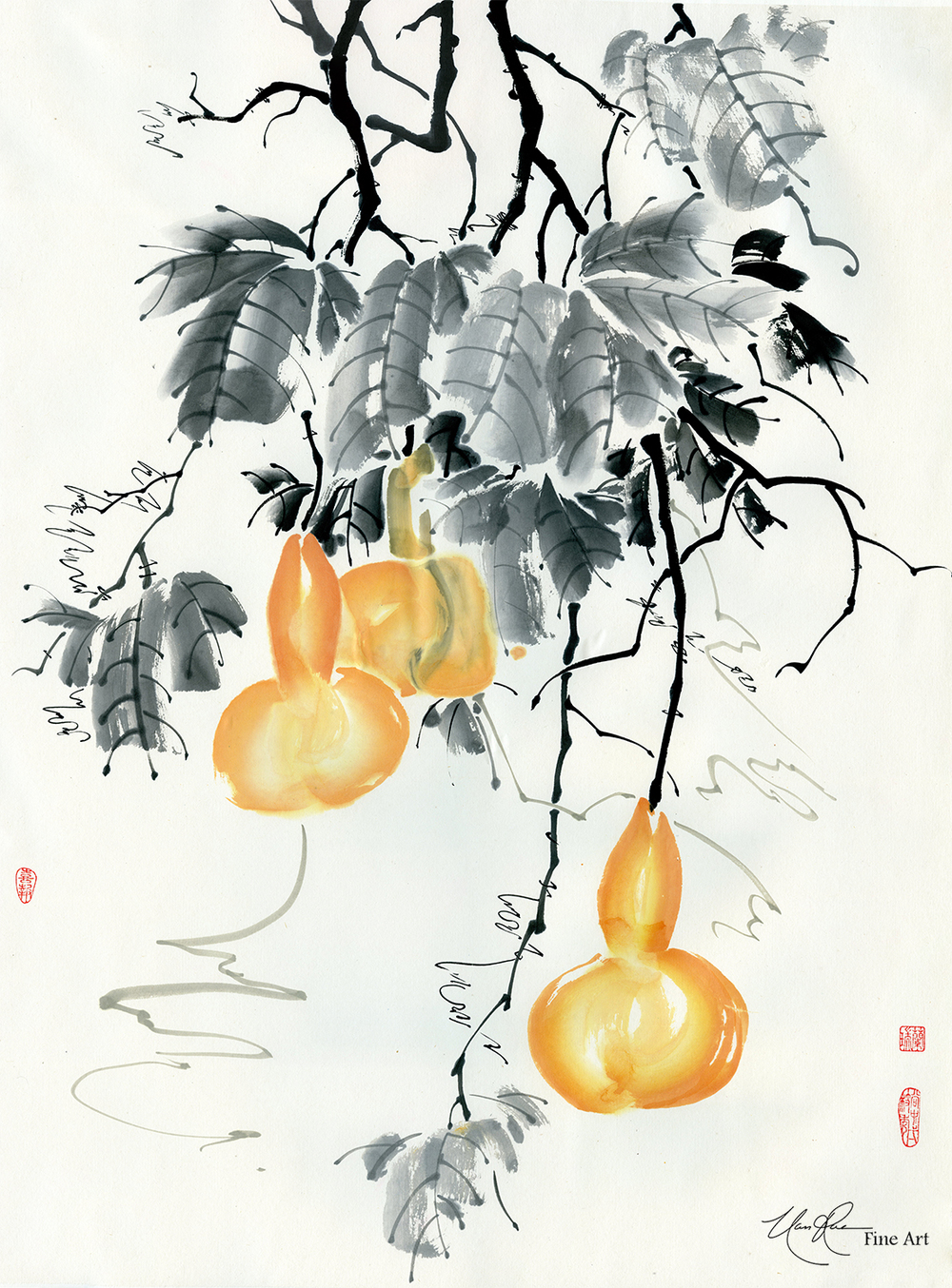 Gourds Glisten in the Moonlight