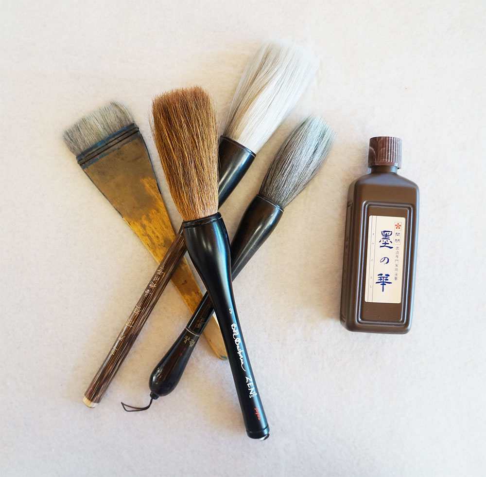 Wash Brush, 3 Large brushes which includes the Zen Brush and Best Bottle Ink