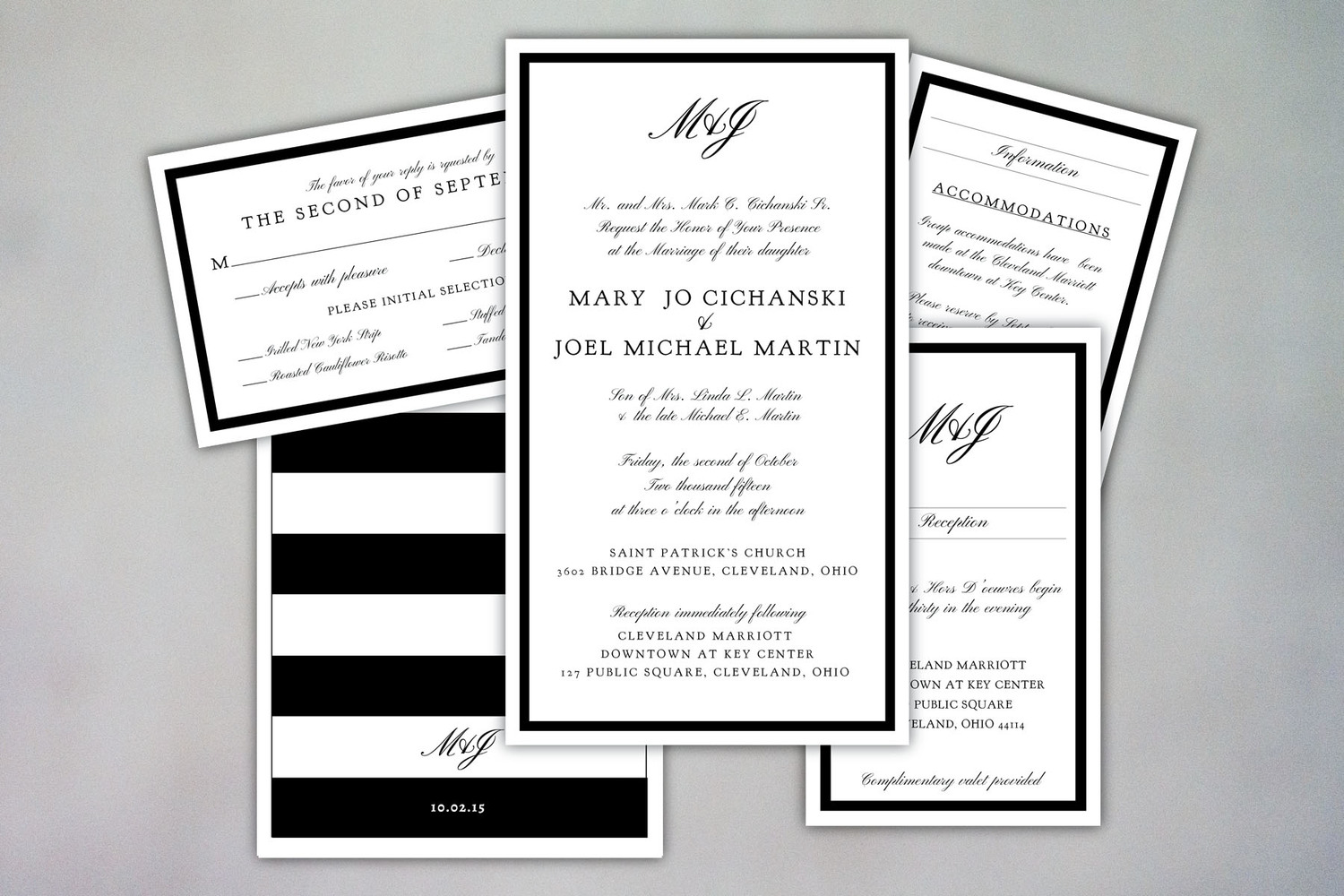 Wedding invite michelle parros michelleparroswedding invite designs 6g monicamarmolfo Image collections
