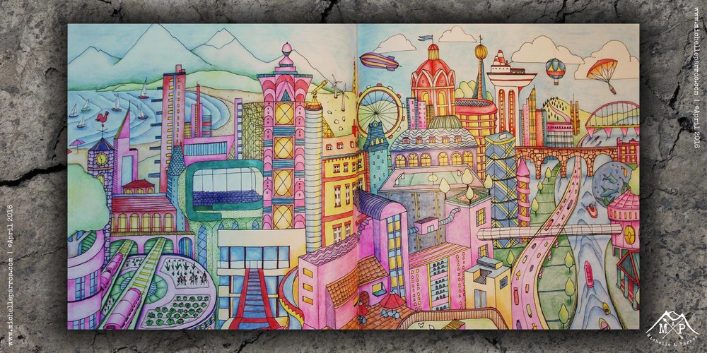 Coloring Book Time An Imaginary City Michelle Parros