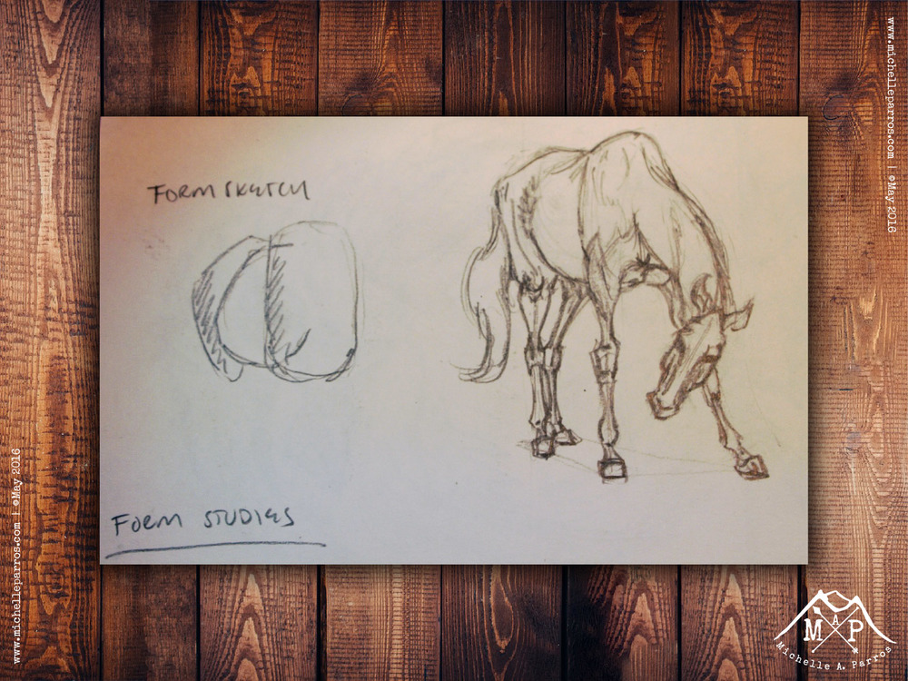 My sketchbook study from Ken Hultgren's  The Art of Animal Drawing