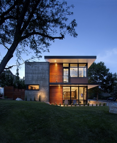An eco-friendly family home in Boulder designed by  Arch11 Architects .