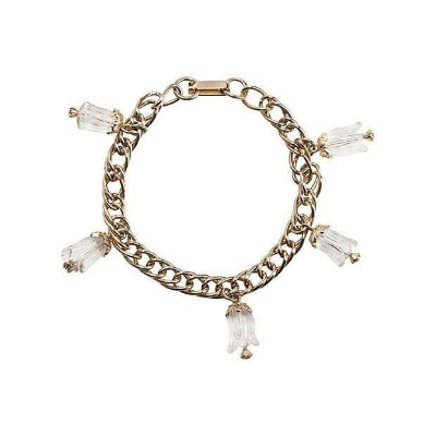 Vintage Lucite Flower Charm Bracelet, $45 via  Chairish