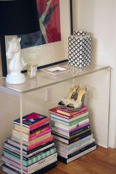 Love the styling of this small entryway console via  Devon Rachel  (Similar from CB2, $379,  here ).