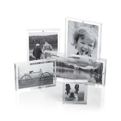 Acrylic Block Frames, $24.95, from  Crate and Barrel .