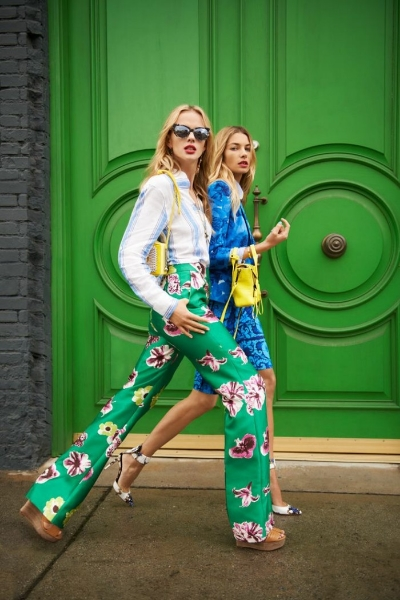 Floral Trousers via  Fashion Gum