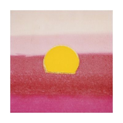 Add some sunny art to your home, like  this one  by Andy Warhol.