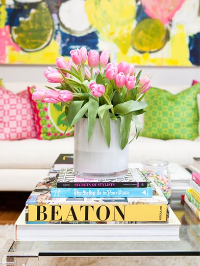 Some bright colors and fresh flowers never hurt anyone. Image via  WishesPleasures .
