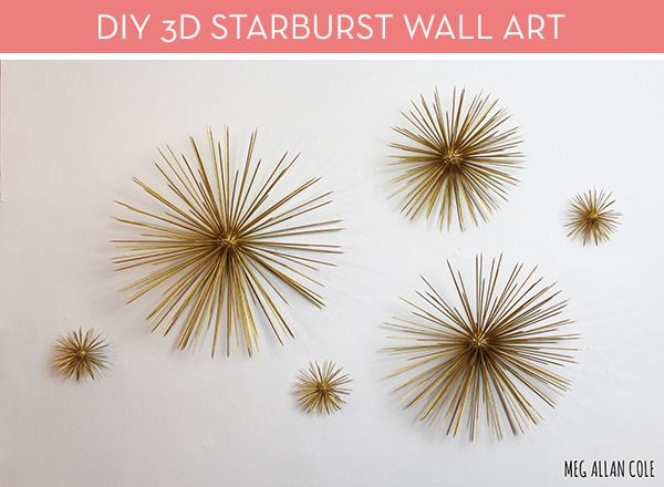 Rainy Day DIY: make your own sunny wall art. Learn how  here .